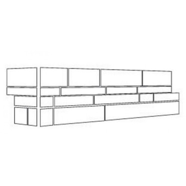 "Ledger Panel Arabescato Carrara Splitface ""L"" Corner 6x12x6 (LPNLMARACAR618COR)"