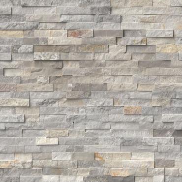Ledger Panel Sunset Silver Splitface Panel 6x24 (LPNLQSUNSIL624)