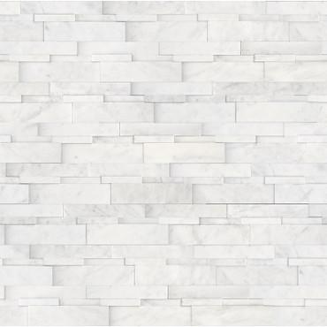 Ledger Panel Bianco Venatino Honed Cubic Wall Panels 6x24 (72-612)