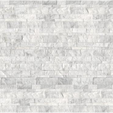 Ledger Panel Bianco Venatino Split Face Wall Panels 6x24 (72-607)