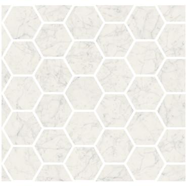 "Marmorea Bianco Gioia Polished 2"" Hexagon Mosaic (FIBGH)"