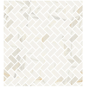 Marmorea Bianco Calacatta Polished Lisca Mosaic (FIBCL)