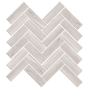 Mood Wood White Herringbone Mosaic (1100828)