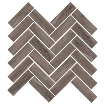 Mood Wood Nut Herringbone Mosaic (1100830)