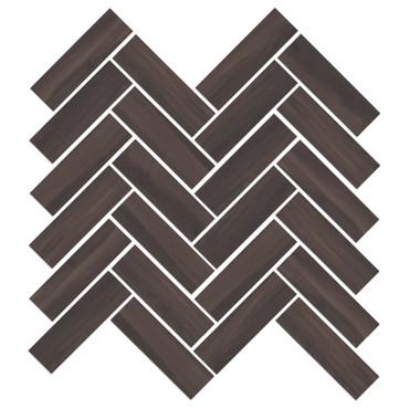 Mood Wood Brown Herringbone Mosaic (1100831)