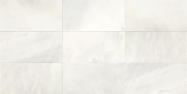 Candora Vestal White Polished Marble 12x24 Floor Tile (M04612241L)