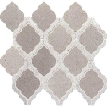 Candora Demure Gray Blend Polished Marble Mini Arabesque Mosaic (DE15MINARABMS1L)