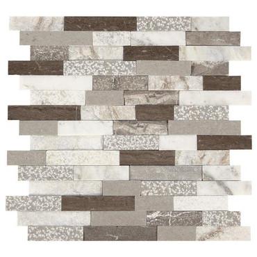 Presario Reverent Taupe Mixed Random Linear Mosaic (DE53LNRANMS1P)
