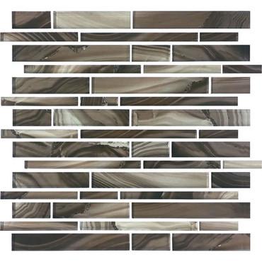 Refluence Grotto Glass Linear Mosaic 12x12 (RE12RANDMS1P)