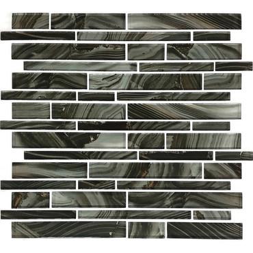 Refluence Torrent Glass Linear Mosaic 12x12 (RE13RANDMS1P)