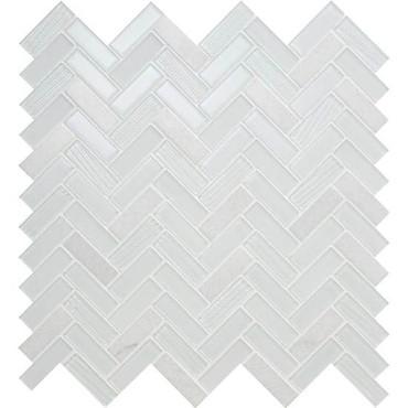Serentina Bliss Herringbone Glass & Stone Mosaic (SA93582HERRMS1P)