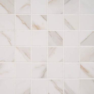 Pietra Calacatta Matte Mosaic 2x2 (NCAL2X2-N)