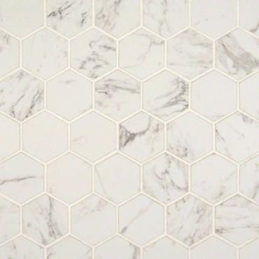 "Pietra Carrara Matte 2"" Hexagon Mosaic (NCAR2X2HEX-N)"