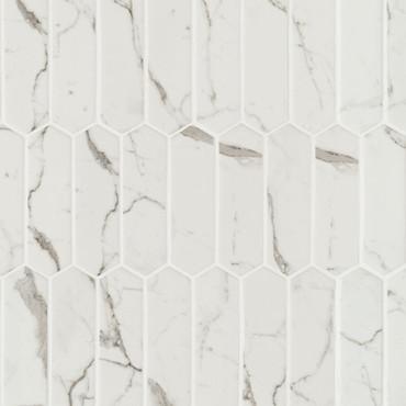 Statuario Celano Picket Mosaic (SMOT-GLSPK-STACEL6MM)