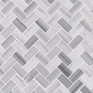 Bergamo Polished Herringbone Mosaic (SMOT-BERGAMO-HB10MM)