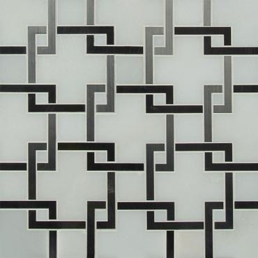 Blanco Lynx Polished Pattern Mosaic (SMOT-SMTL-BLALYN8MM)