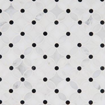 Florita Pattern Marble Mosaic (SMOT-FLORITA-POL10MM)