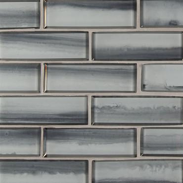 Ombre Grigia 2x6 Mosaic (SMOT-GLSST-OMBGRI8MM)