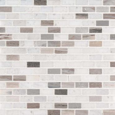 Palisandro Polished Mini Brick 1x4 Mosaic (SMOT-PALI-MB10MM)