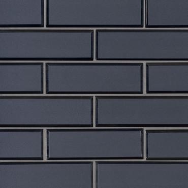 Vague Blue 2x6 Subway Mosaic (SMOT-GLSST-VAGBLUBEV6MM)