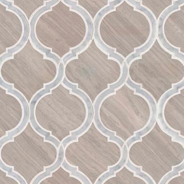 White Quarry Savona Mosaic (SMOT-WQSAV-HON10MM)