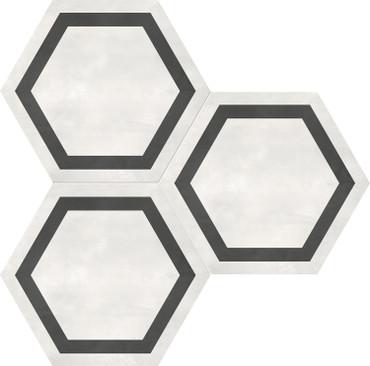 Form Ivory Hexagon Frame 7x8 (60-405)