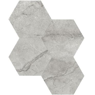 """La Marca Paradiso Argento Honed 6"""" Hexagon Mosaic (4501-0335-0)"""
