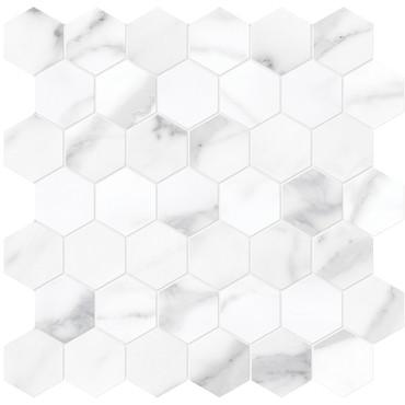 "La Marca Statuario Nuovo Honed 2"" Hexagon Mosaic (4501-0356-0)"