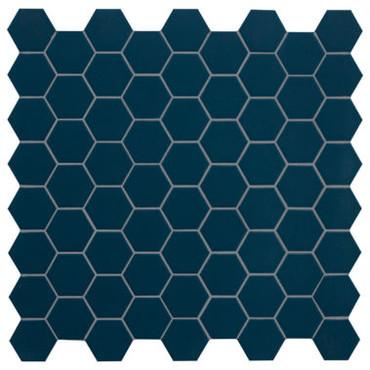 Hexa Deep Navy Hexagon Matte Mosaic