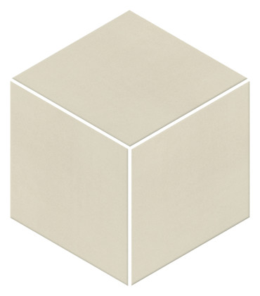 Neoconcrete White Matte Mosaic 3D Cube 12x12 (NE103DCUBEMS1P2)