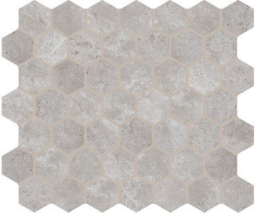 "Rochester Gray Ceramic 1 1/2"" Hex Mosaic (RC0215HEXMS1P2)"