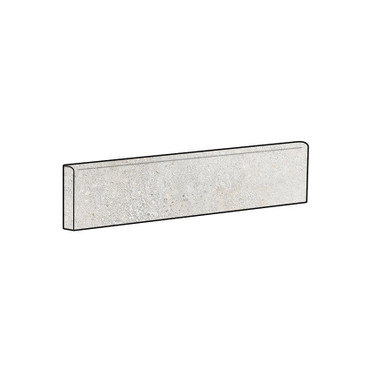 Brooklyn Cemento Argent Honed Bullnose 4x24 (IRG424BT182)