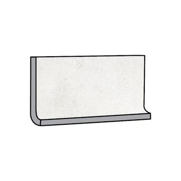 Brooklyn Cemento White Honed Cove Base 6x12 (IRG612C187)