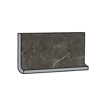 Rooted Anthracite Matte Cove Base 6x12 (TMWAN612CB)
