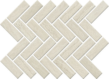 Sunset Falls White Ceramic Herringbone Mosaic (SF1513HERMS1P2)