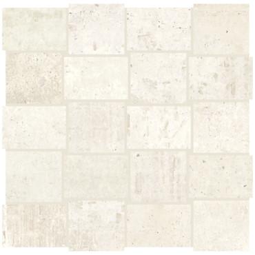 Union Platinum White Porcelain Basketweave Mosaic (UN0123MDWVMS1P2)