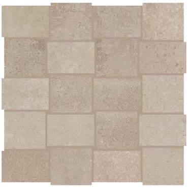 Union Weathered Beige Porcelain Basketweave Mosaic (UN0223MDWVMS1P2)