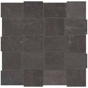Union Black Nickel Porcelain Basketweave Mosaic (UN0523MDWVMS1P2)