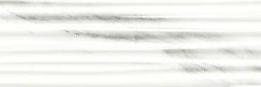 Marble Plus Statuario White Glossy Rows Wall 12x36 (188206)