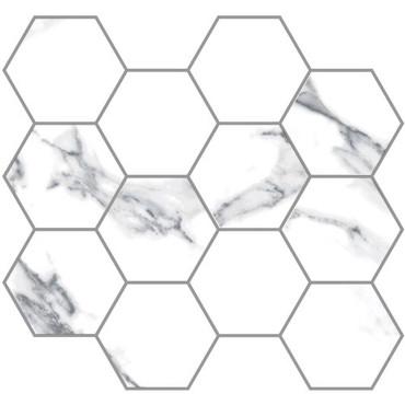 Statuario Extra Moderne Polished 3.25 Hex Mosaic (21.M.330.5340)