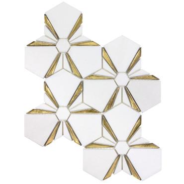 Dazzle Gold Kaleidoscope Mosaic (ANTHDAKG)