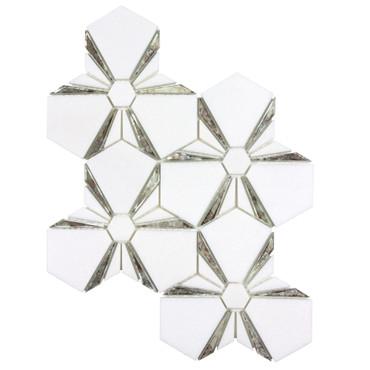 Dazzle Silver Kaleidoscope Mosaic (ANTHDAKS)