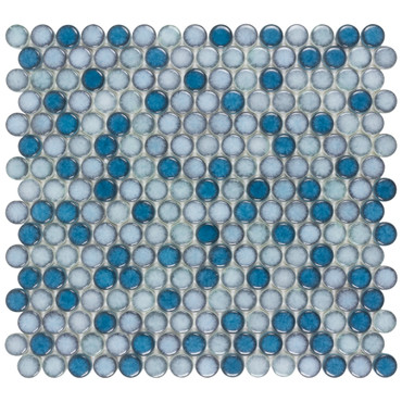 Watercolor Sea Breeze Penny Round Mosaic (ANTHWCSB)