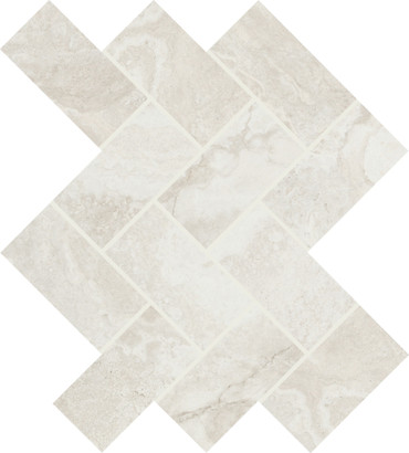 Archaia Relic White Ceramic Herringbone Mosaic (AR4024HERRMS1P2)