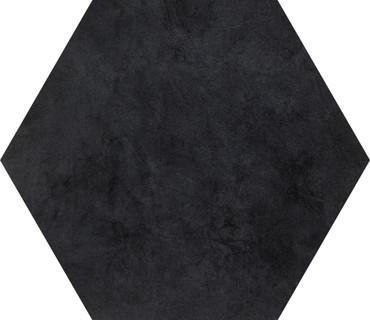 Bee Hive Black Solid Porcelain Hexagon 24x20 (P0112420HEX1P)