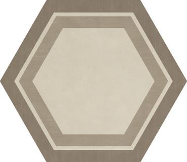 Bee Hive Warm Blend Honeycomb Porcelain Hexagon 24x20 (P0122420HXDCO1P)