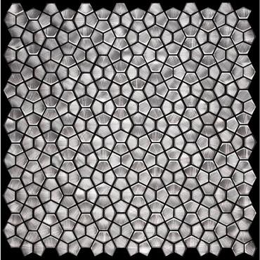 Metal Elements Grey Pentagon Mosaic (AMPFL-06)
