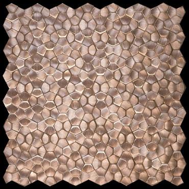 Metal Elements Salmon Rose Multi-Level Pentagon Mosaic (AMPML-00)