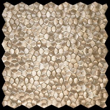 Metal Elements Gold Multi-Level Pentagon Mosaic (AMPML-02)