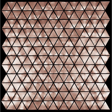 Metal Elements Salmon Rose Triangle Mosaic (AMTRI-00)